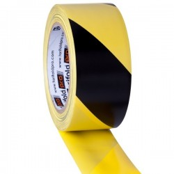 Nastro giallo/nero 50 mm x 33 mt